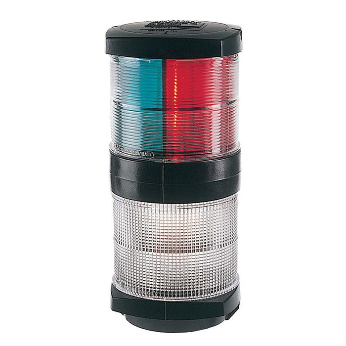Hella Marine Hella Marine Tri-Color Navigation Light-Anchor Navigation Lamp- Incandescent - 2nm - Black Housing - 12V [002984601] Navigation Lights Desert Wind Sailboats