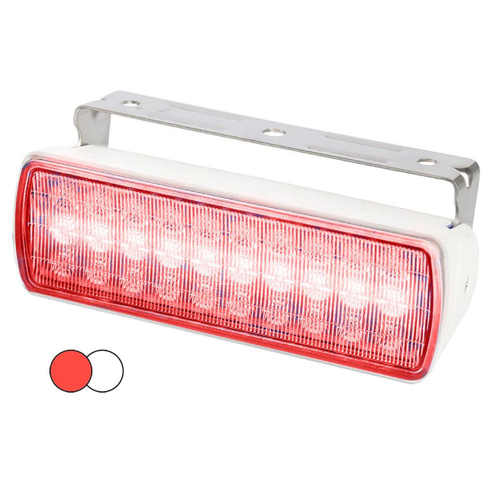 Hella Marine Hella Marine Sea Hawk XL Dual Color LED Floodlights - Red-White LED - White Housing [980950051] Navigation Lights Desert Wind Sailboats
