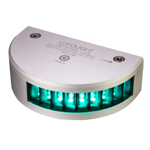Lopolight Starboard SideLight - 2nm f-Vessels 39(12M) to 164(50M) - Vertical Mounting - Green w-15M Cable [300-001-15M]