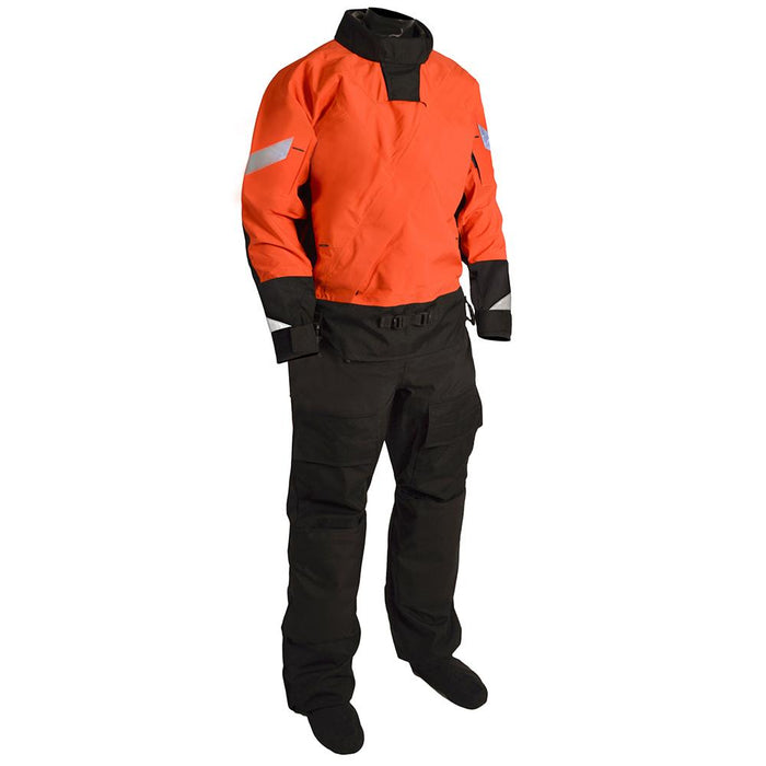 Mustang Sentinel Series Lightweight Boat Crew Dry Suit - X-Small-R - Orange-Black [MSD634-33-XSR]