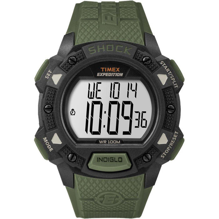 Timex Expedition Base Shock Resin Strap Watch - Green [TW4B09300JV]