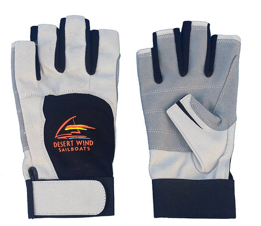 Sailing Gloves Short Finger Black/Grey