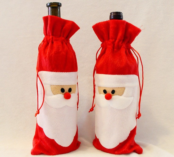 FREE Wine Bottle Cover Bags Christmas Decoration