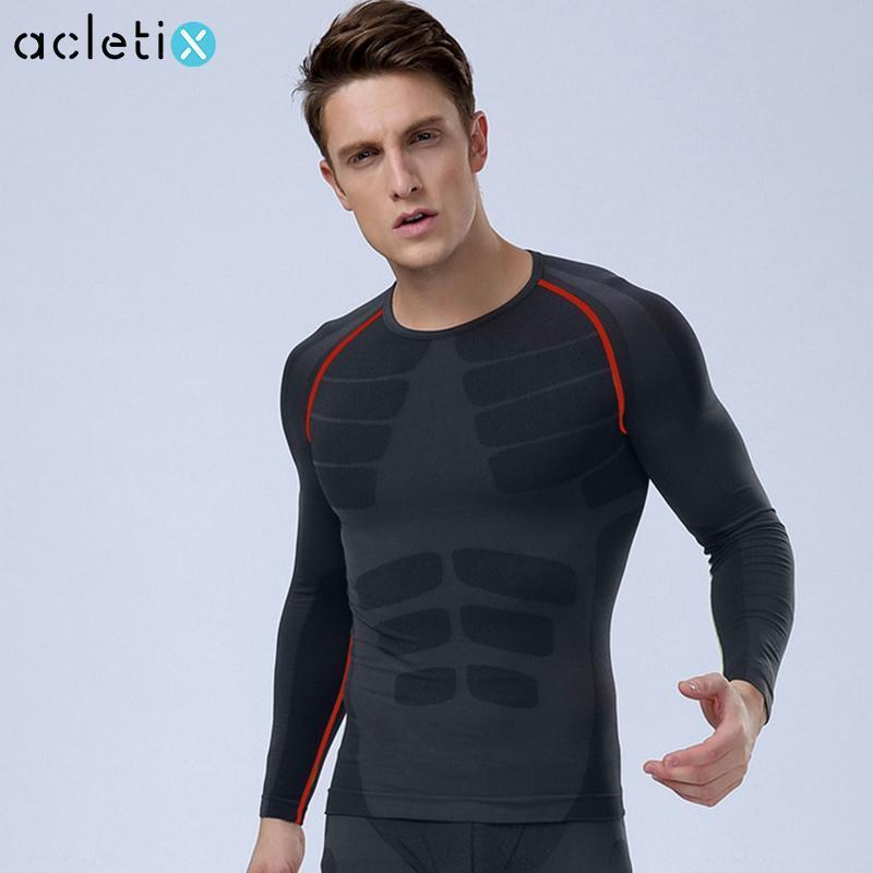 Men Compression Long Sleeve O-Neck Sports T Shirt