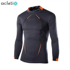 Men Long Sleeve Compression High O-Neck Shirt