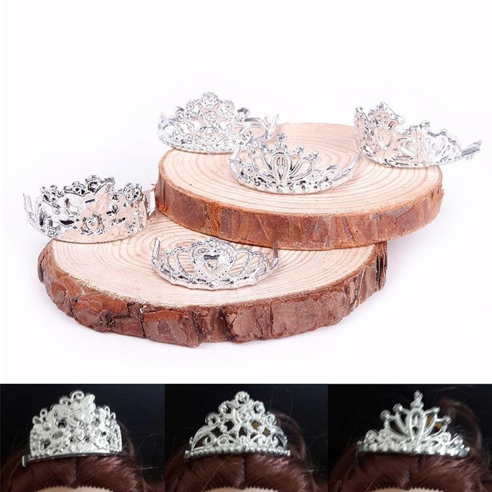 Crystal Plastic Crown Doll Accessories - 10 Pieces