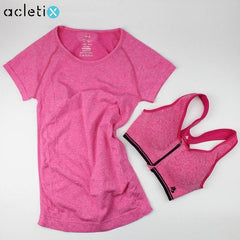 BUNDLE: Casual Women Shirt + Fast Drying Zipper Sport Bra