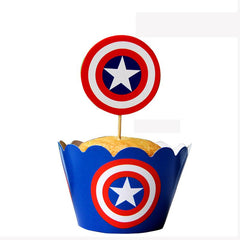 Superhero Cupcakes Wrappers + Toppers