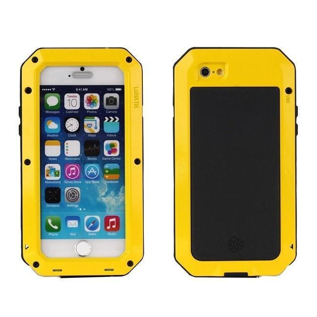 * iPhone Case*  4/4s/5/5s/SE/6/6s/6plus/6s plus Dirt proof Shockproof Waterproof Aluminum Armor + Glass Hard Cover