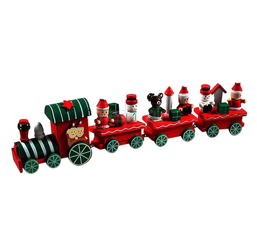 Charming Little Wood Train Christmas Decoration