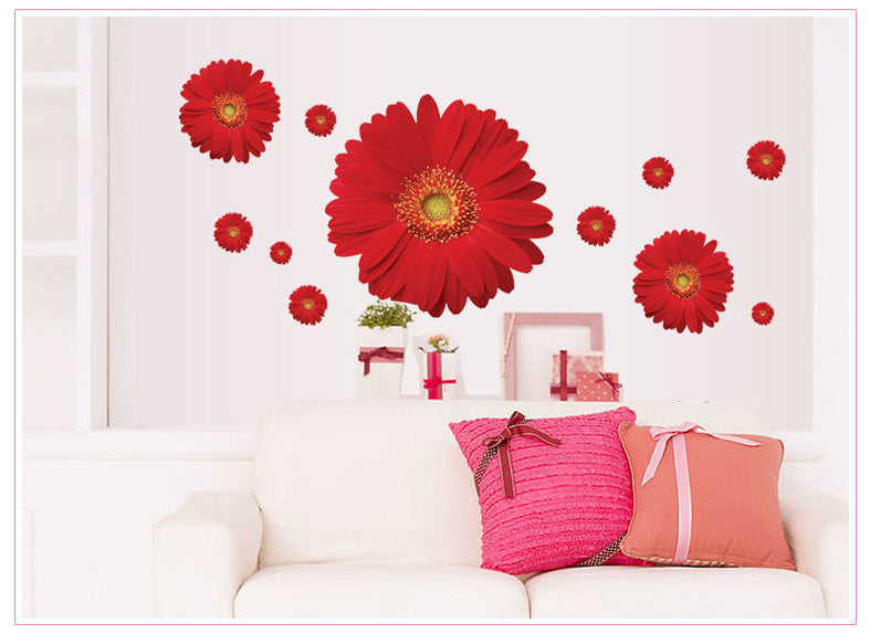 Daisy Flower  3D Wall Stickers