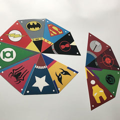 Superhero Happy Birthday Pennants Paper Flag Banners