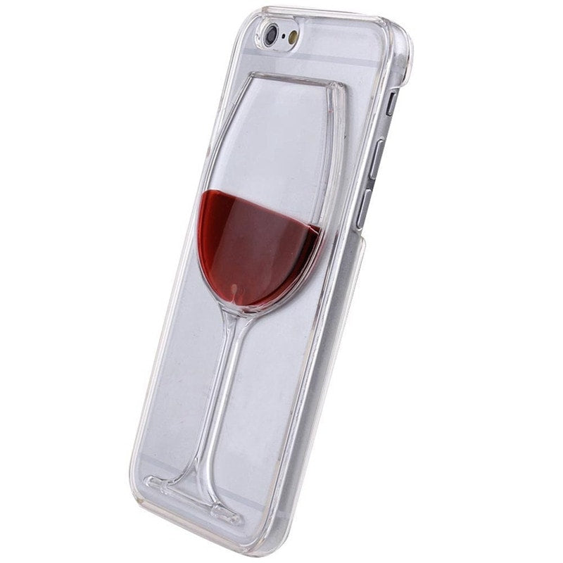 los angeles ea6d2 4df46 * iPhone Case* 6/6S Liquid Red Wine Glass Case