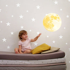 3D Luminous Moon Wall Sticker