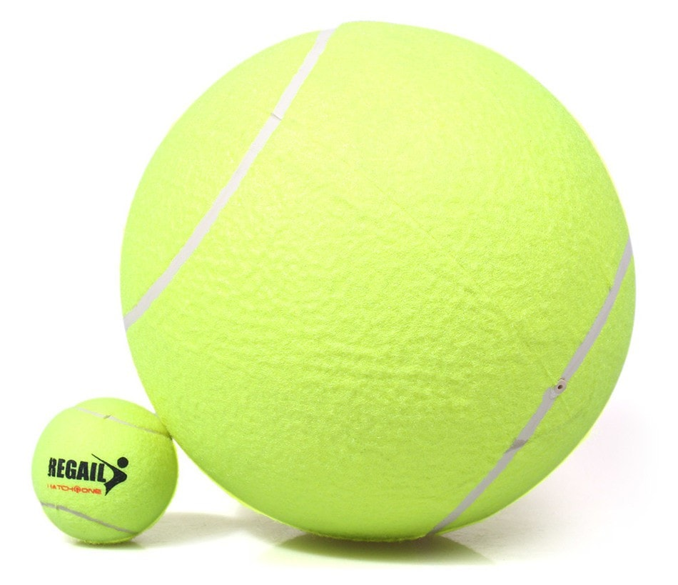 Thick Natural Rubber Tennis Ball Pets Toy