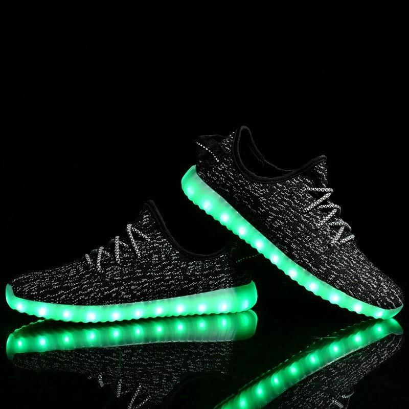 Mottled Canvas LED Light running shoes