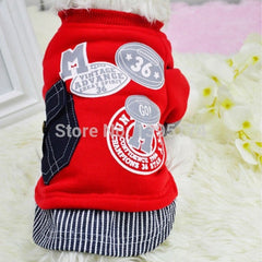 Baseball Cotton Costume Sweatshirt Pet Clothes