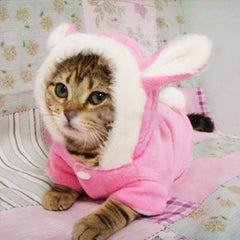 Easter Bunny Cute Costume Hoodie Coat For Pet Cat