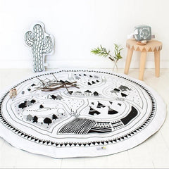 Black and White Baby Game Carpet