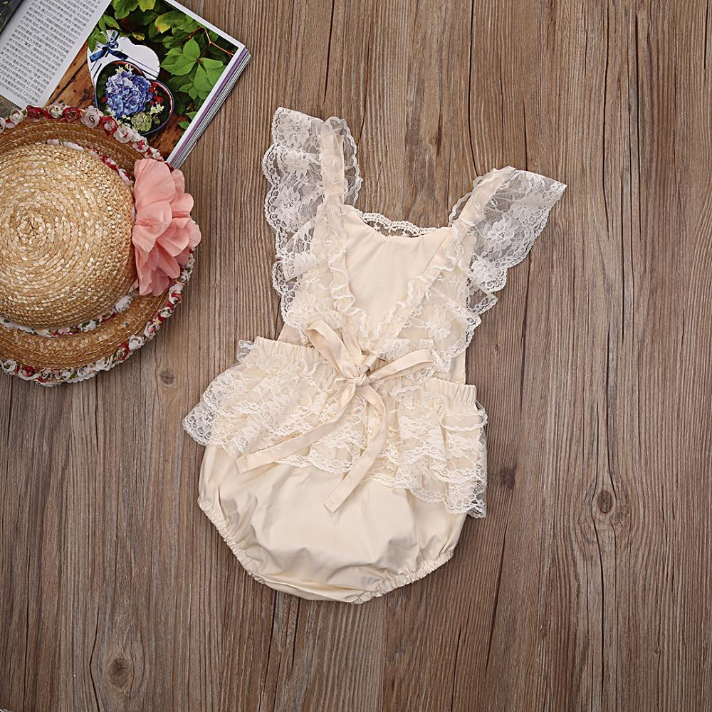 Baby Girl White Lace Romper