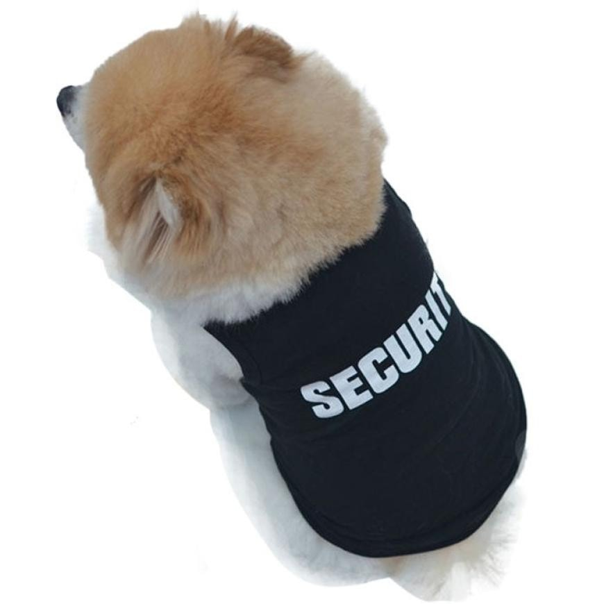 Security Print Summer Cute T-shirt Vest Pet Puppy