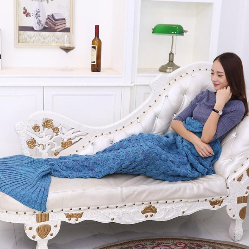 NEW Fish Scales Mermaid Knitting Blanket