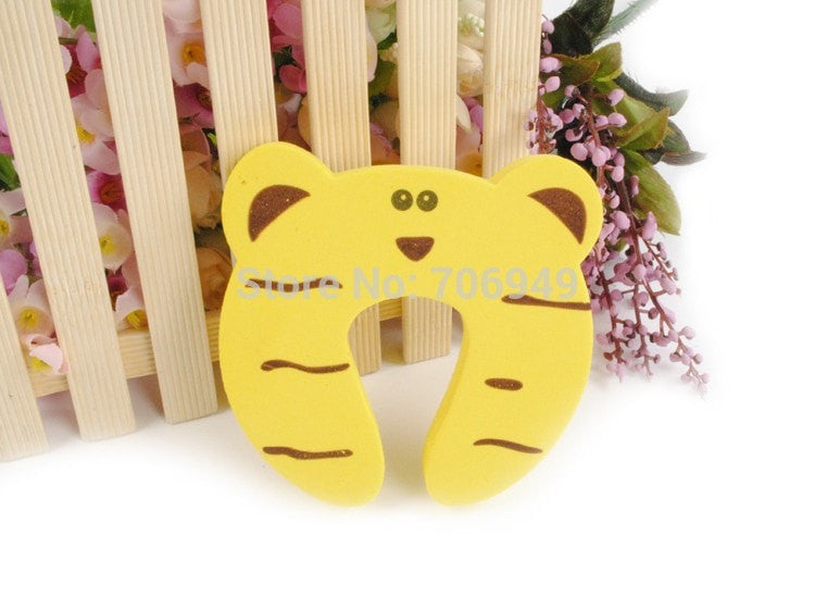Child Safety Door Stopper Cartoon Animal Shape 5pcs Lot