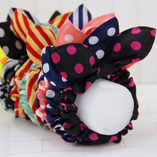 Rabbit Ears Fabric Rubber Hair Band