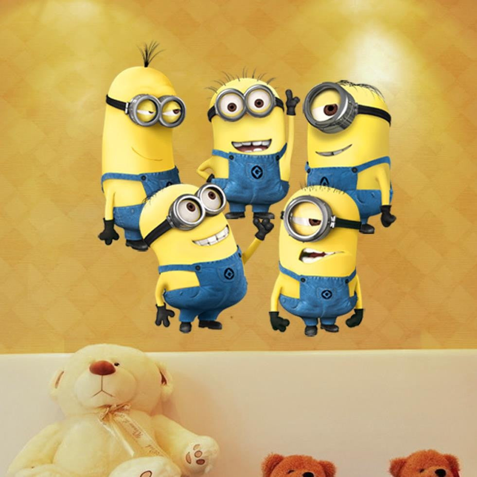 Minion Wall Stickers Vinyl Sticker Art | Dealeaz