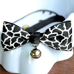 Bow Tie Decorative Adjustable Pet Collars with Bells