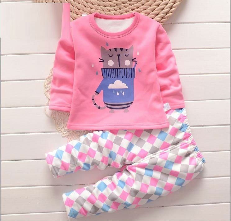 Baby Warm Pajamas Sets