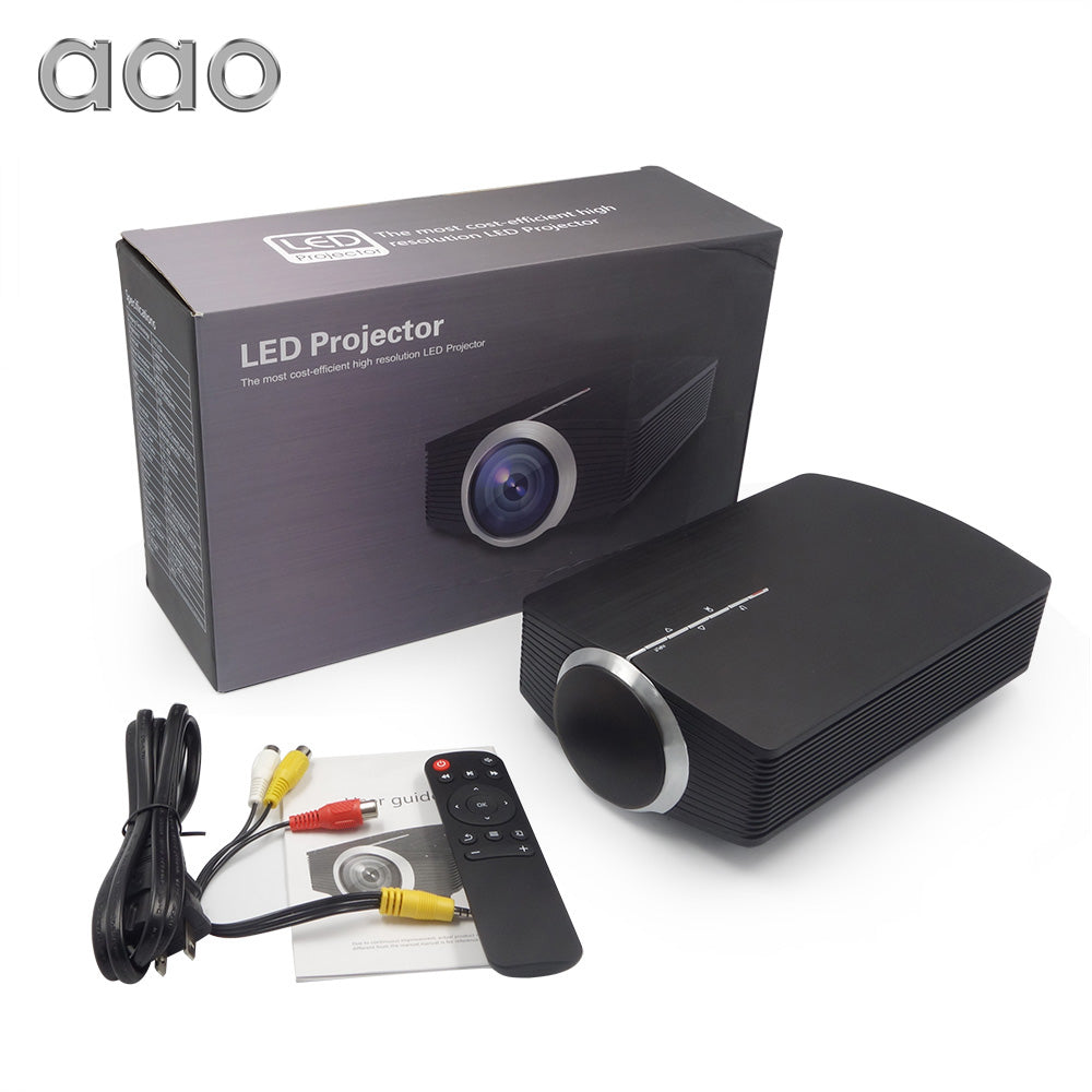 Mini Projector 1080P 1800 Lumen Portable LCD LED Projector Home Cinema