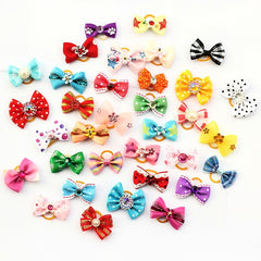 Little Flowers Bow Handmade Dog Charms