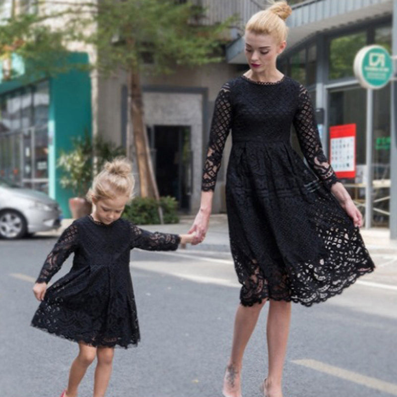 Classy Autumn Dress For Daughter&Mom