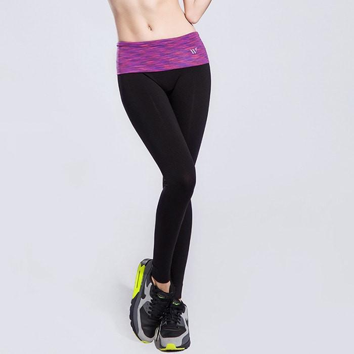 Women Waistband Sports Elastic Legging