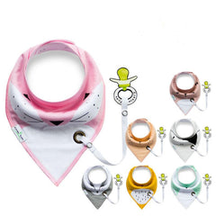 Super Cute Baby Bib with Pacifier Holder