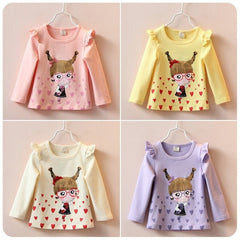 Cartoon Girl Tops Long Sleeve