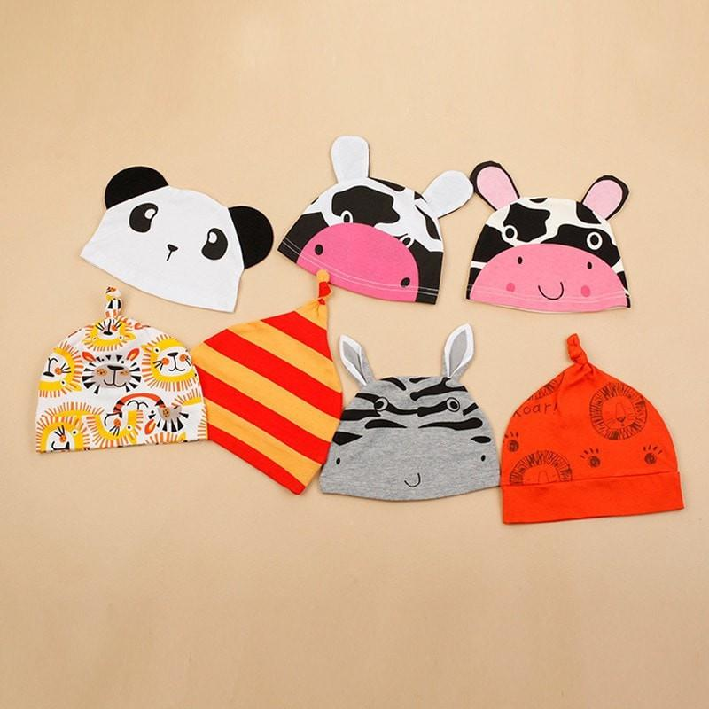 Cartoon Animal Summer Baby Rompers + Hat