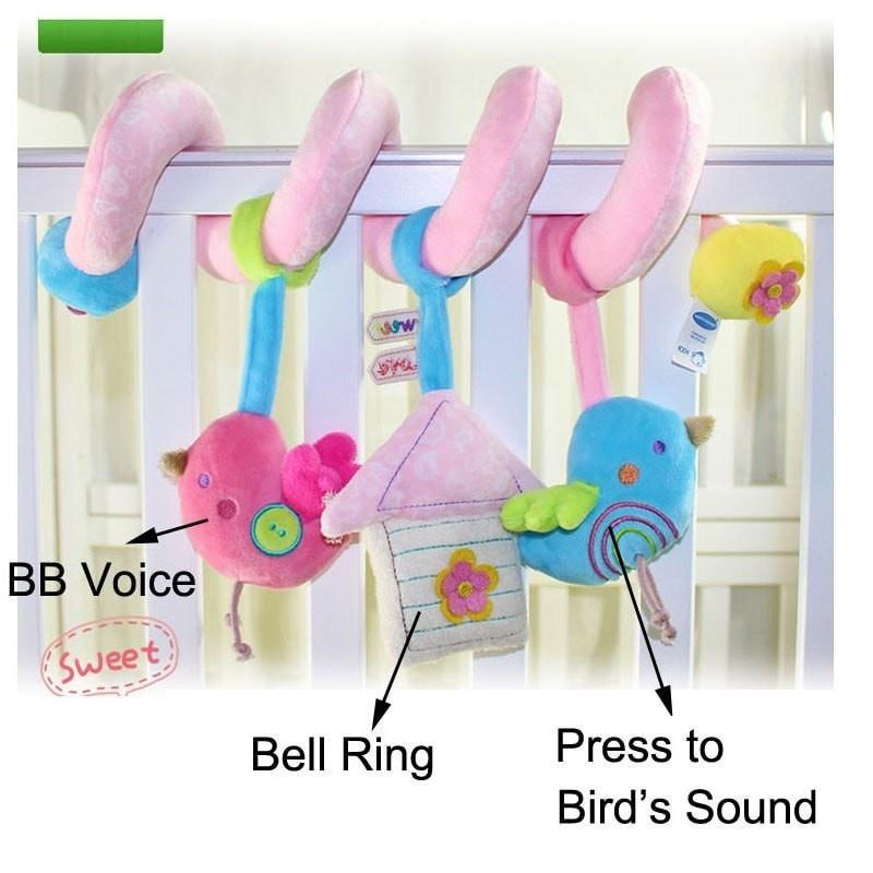 Bird Bed Stroller Musical Mobile