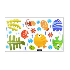 Tropical Cartoon Fish Bathroom Sticker