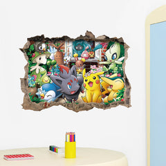 3D On the Wall Pokemon Garden Sticker