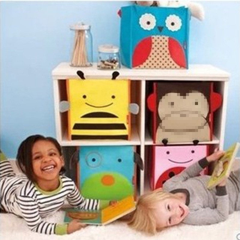 Cartoon Fabric Children's Toy Storage Box