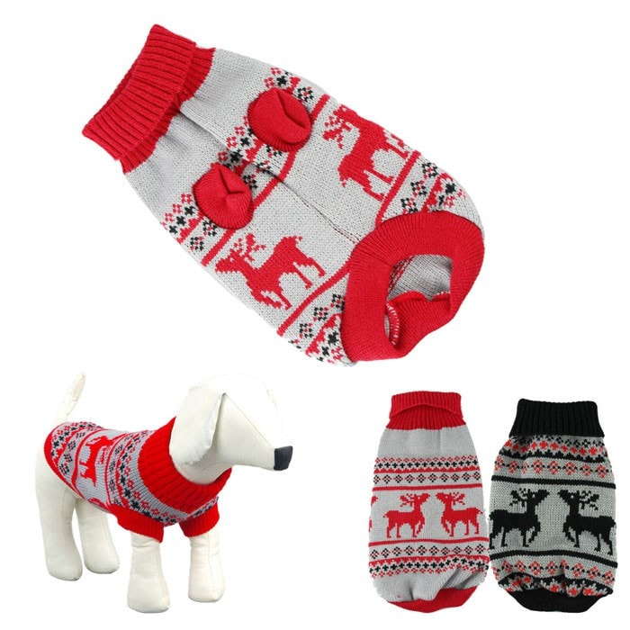 Deer Knitted Pet Dog Clothes