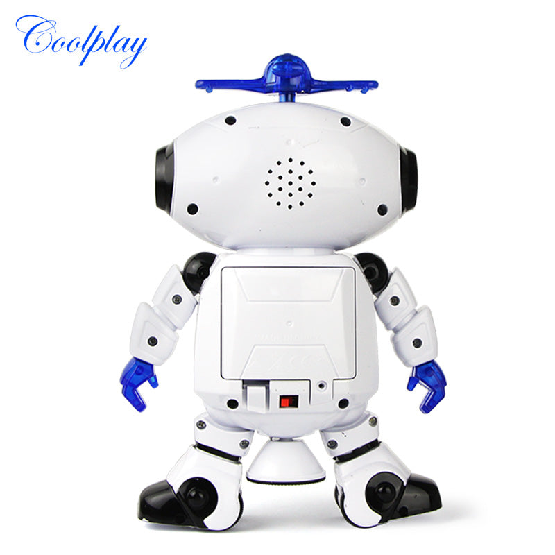 360 Rotating Smart Space Dance Robot Electronic Walking Toys