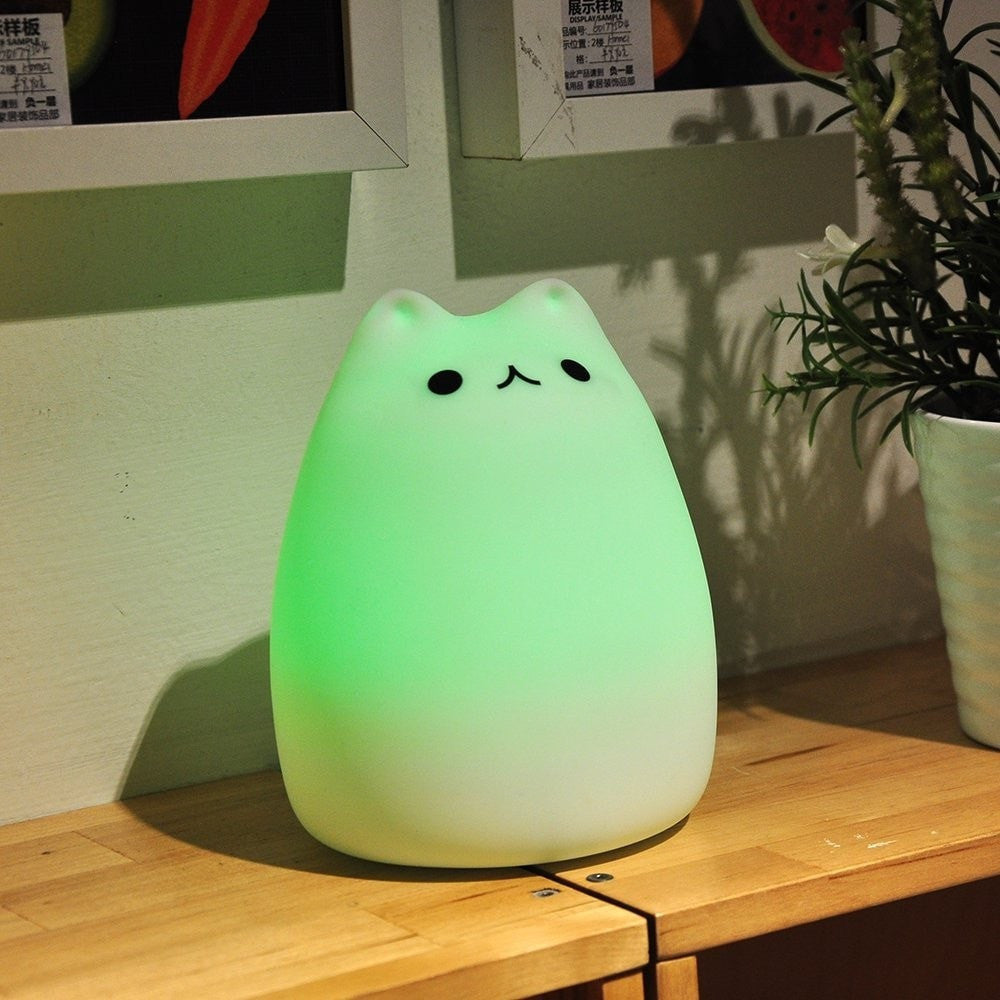 Cute Cat  Sensitive Multicolor Nursery Bedside Lamp