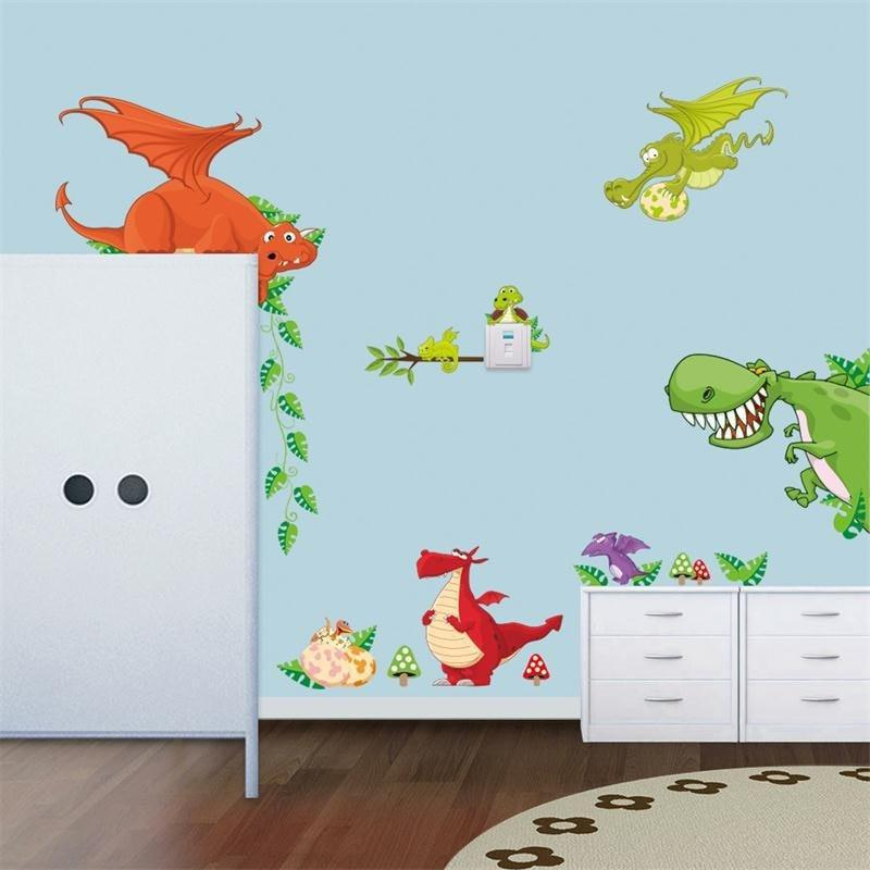 Wall Stickers Jungle/Dinosaurs Theme For Kids Room