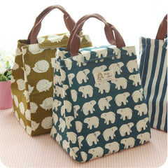 Cute Pattern Canvas Lunch Tote