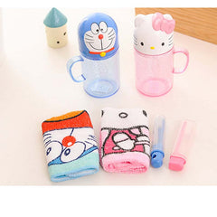Kid Travel Toothbrush Sets (cup+towl+toothbrush )