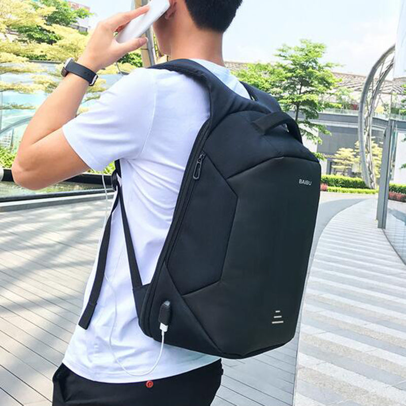 Anti Theft Sport Backpack Backpack With Usb Charging Waterproof