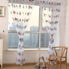 Car Pattern Sheer Curtains